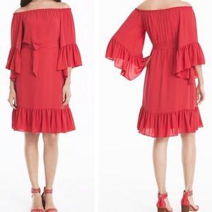 WHBM Ruffle Sleeve Dress Size XXS